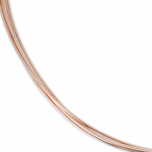 Hilo semi duro 0.51 mm de Rosa Gold filled 12K x 1 m