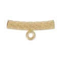 Tubo para dijes en Gold Filled 14 carats 13 x 2 mm x 1