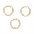 Anillas abiertas  7 x 1 mm de Gold filled Rosa 14 K x10