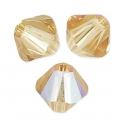 Tupis en cristal Swarovski 4 mm Light Colorado Topaz Shimmer x50