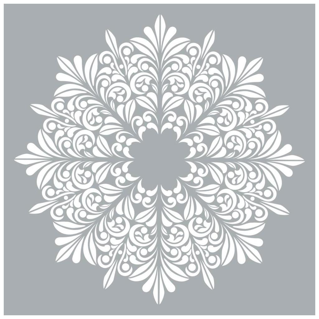 Plantilla decorativa Home deco XL 45.7 x 45.7 cm Mandalas flores ...