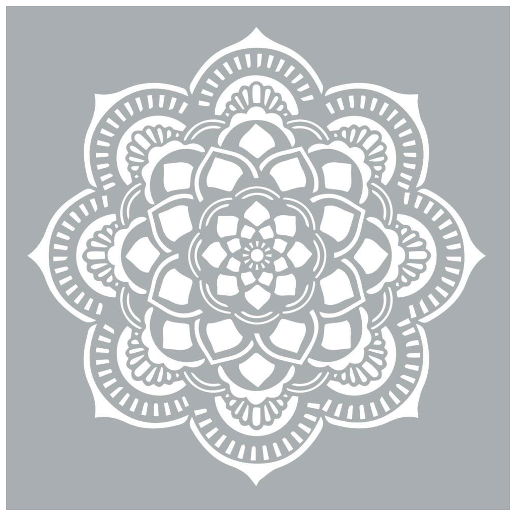 Plantilla decorativa Home deco XL 45.7 x 45.7 cm Mandalas Rosetón ...