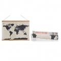 Mapa del Mundo punto de cruz Luckies London 59,4x45 cm Cross Stich Map