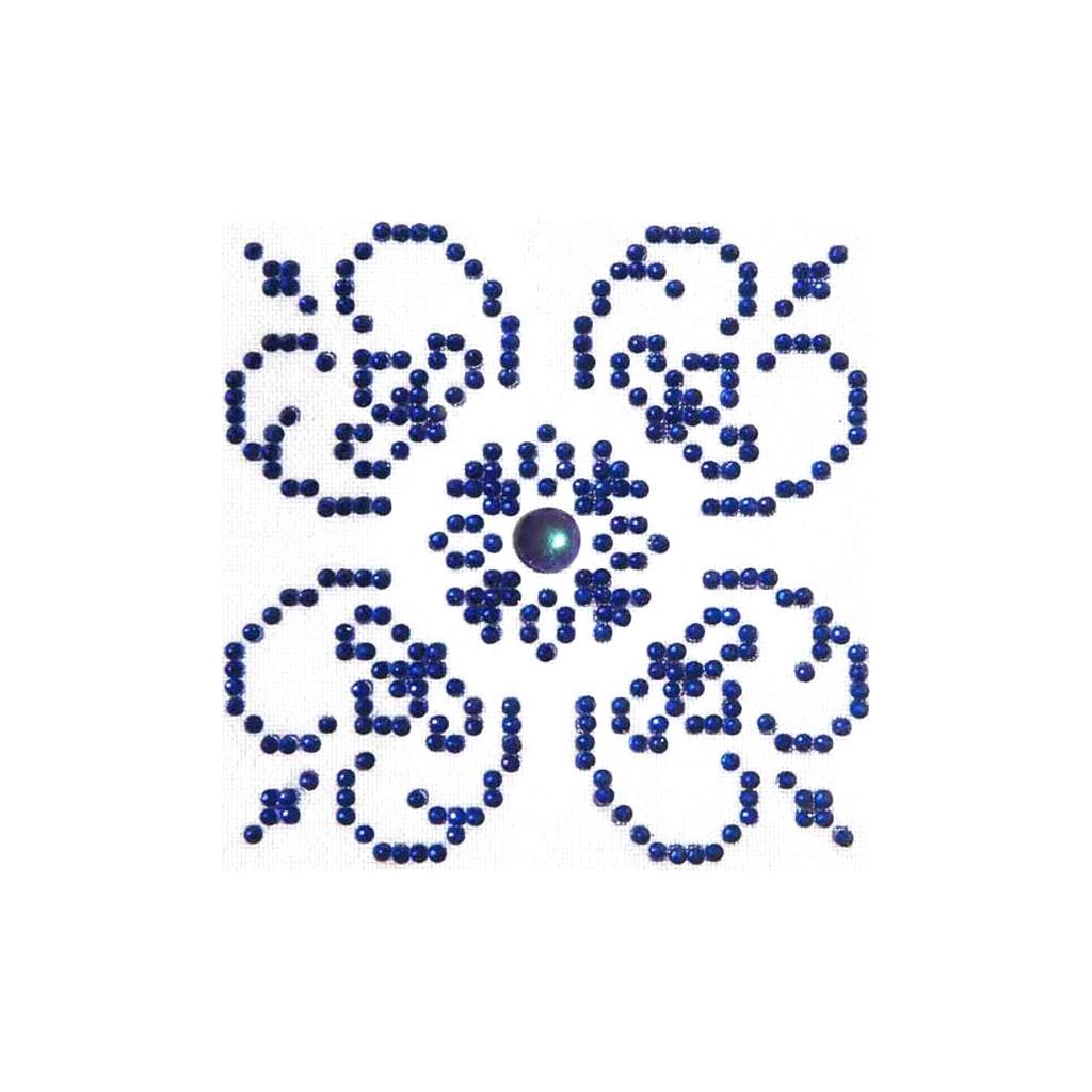 Kit de bordado diamante - Punto de cruz diamante 10x10 cm Azul y ...