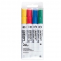 LACKSTIFT - 4 Rotuladors Tinta 2 mm - Paper Poetry - Amarillo/Rojo/Azul/Verde