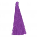 Borla pompon grande sin enganche 120 mm para decoración o joyas Purple