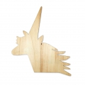 Wall charm - Made by Me - Soporte para decorar de madera 22 x25 cm - Unicornio