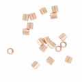 Tubos Chafas 2x2 mm de Rosa Gold filled 14K x50