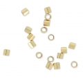 Tubos Chafas 2x2 mm de Gold filled 14K x50
