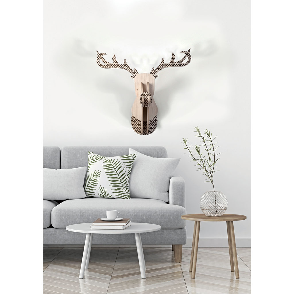Trofeo para paredes reno de madera mdf 60 x 50 x 38 cm - Maderas para decorar paredes ...