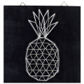 Kit String Art modelo Ananas rectangular de madera negro 22x22cm para decorar DIY