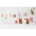 3 cajas regalo a bordar - Paper Poetry - Merry X-Stitch-Mas - Kraft