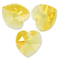 Corazones Swarovski 6202 Light Topaz 10,3x10 mm x6