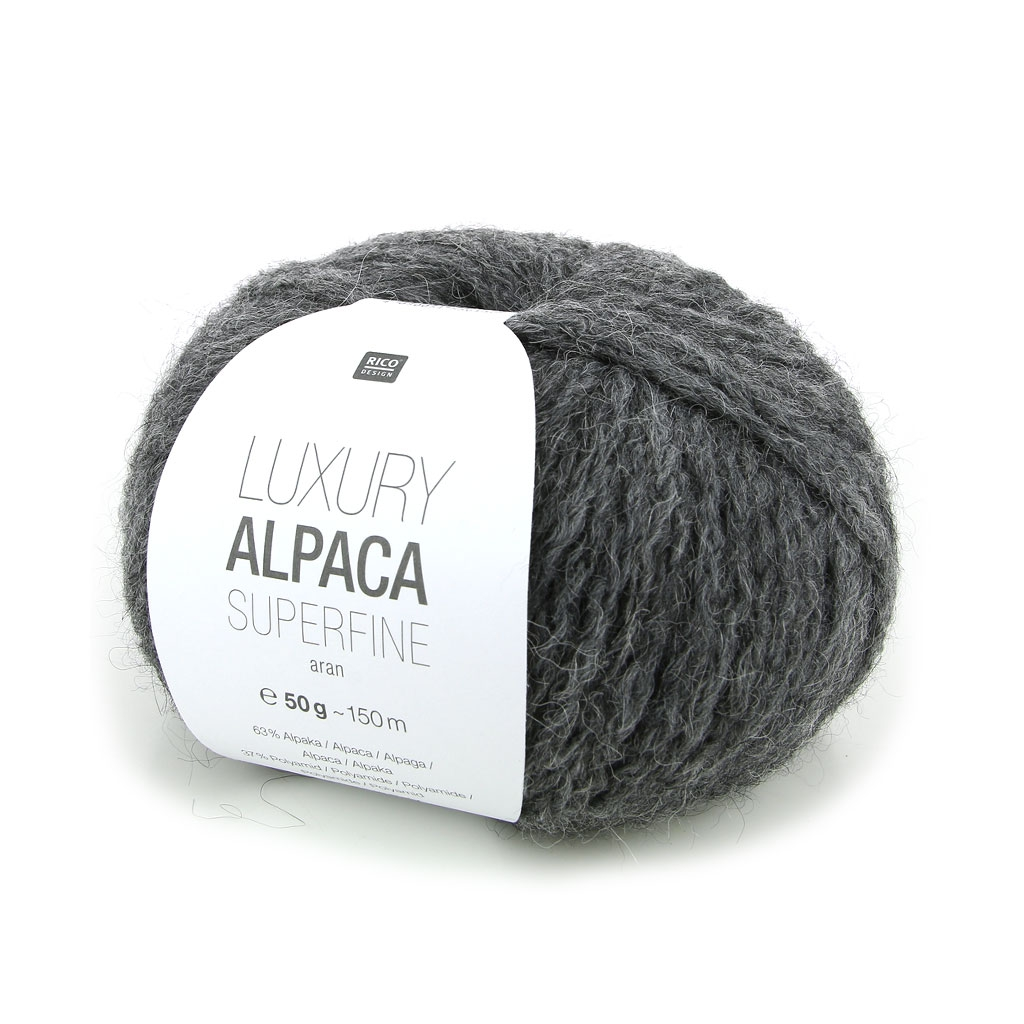 c4a8889698619 Lana Luxury Alpaca Superfina Aran - Gris n°004 x 50g - Perles   Co