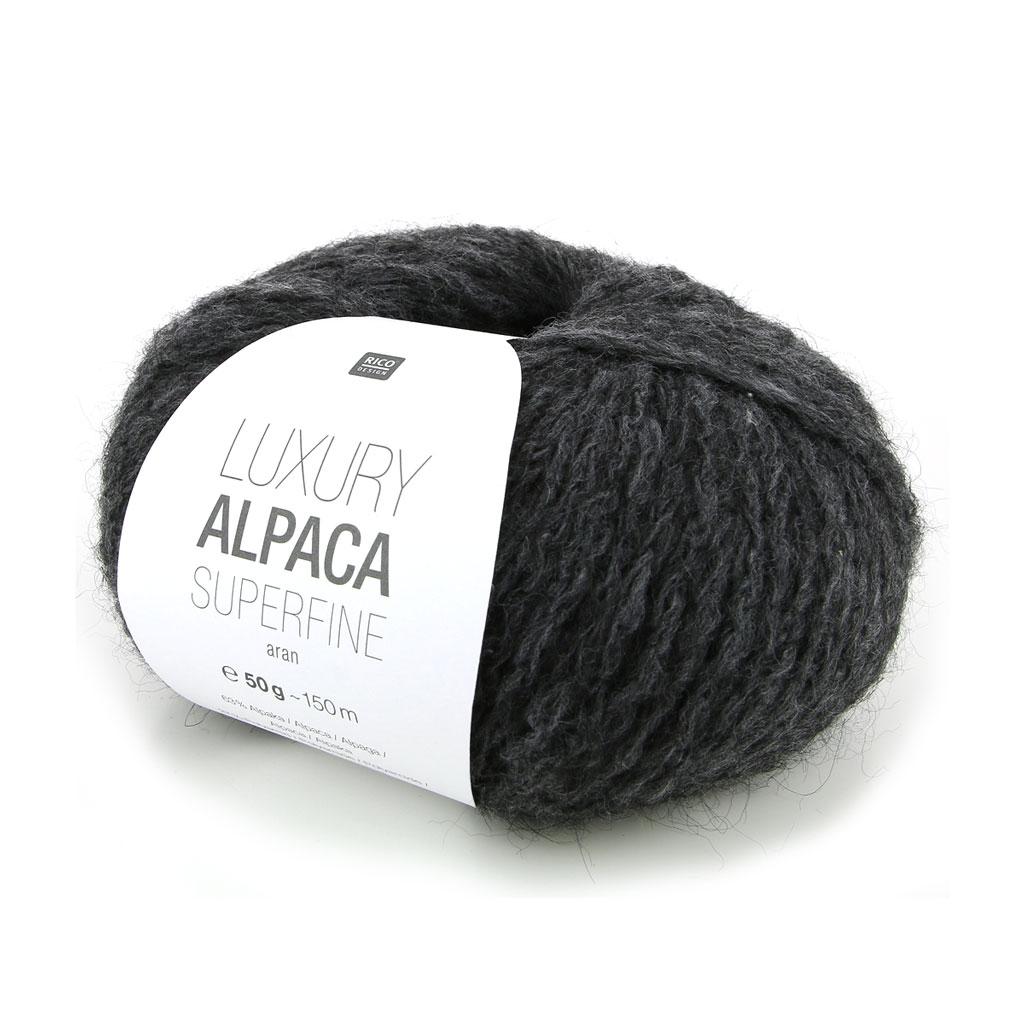 ead22fa905c3a Lana Luxury Alpaca Superfina Aran - Gris Antracita n°005 x 50g - Perles   Co