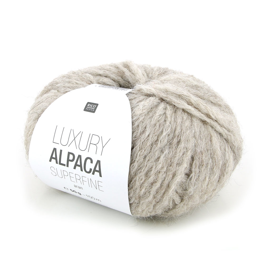 Lana Luxury Alpaca Superfina Aran - Color Crudo n°002 x 50g - Perles ...