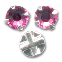 Strass para coser 4 mm Rosa x10