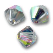 Toupies en cristal Swarovski 4 mm Crystal Vitrail Medium x50