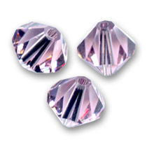 Toupies en cristal Swarovski 6 mm Light Amethyst  x20