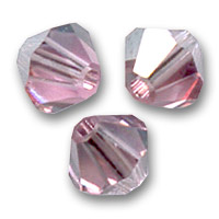 Toupies en cristal Swarovski 4 mm Light Rose Satin x50